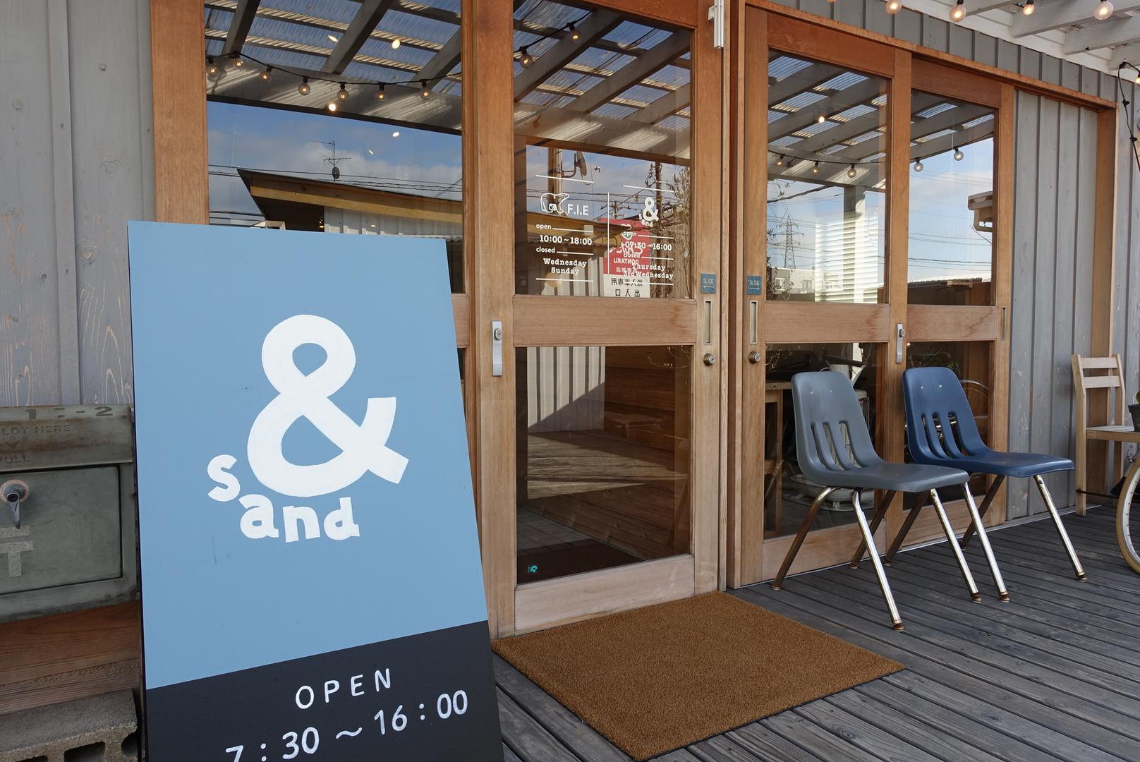 新保本のカフェ&sandにてほっこりモーニング。ファン多し!